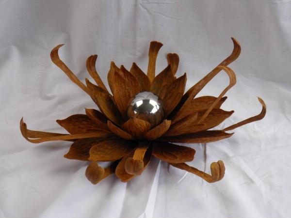 Metallstecker Blume Rostlook 43x39x143cm