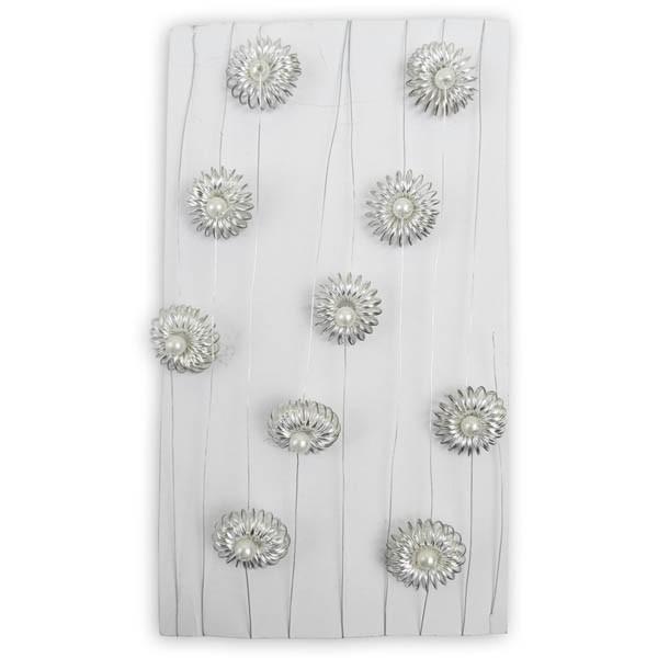 Kette Silberdrahtgeflecht mit Perle
